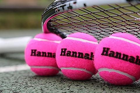 Des balles de tennis personnalisées - ROSE