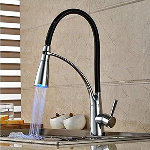 Clarinet LED hot and cold faucet single handle single hole kitchen sink faucet