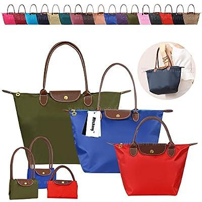 Wocharm Womens Handbags Shoulder Bag Messenger Bag Nylon Tote Bag Ladies Shopping Folding Tote Beach Travel Bag Casual Purse