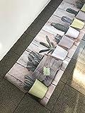SpazioTessile Tappeto Cucina Stuoia Corsia Passatoia Gommato Digitale Cactus Vasetto 10 Misure (52x240)