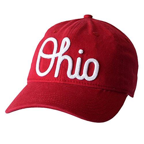 J America NCAA Ohio State Buckeyes Damen Advancement Slouch Verstellbare Cap, Einheitsgröße, Rot (Damen Ohio State Hat)