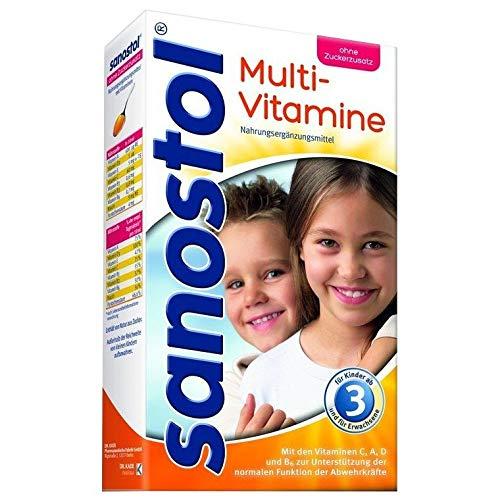 Sanostol ohne Zuckerzusatz: Multi-Vitamine für Kinder ab 3 Jahren und Erwachsene, unterstützt ein gesundes Immunsystem mit den Vitaminen A und D, 460ml -