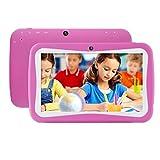 Türkei 17,8cm (17,8cm) Tablet für Kinder, Android 5.1, 512MB RAM, 8GB ROM, Quad Core, Dual-Kamera, Bluetooth, SIM-Karte, WIFI etc., Learning Bildung Tablet für Kinder hot pink
