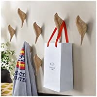 HyFanStr 2 Pack Resin Bird Shaped Coat Hooks Wall Mounted Hat Towel Bag Hanger