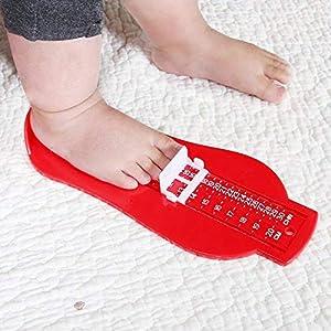 Aofocy Fußmessgerät Baby Fußmaß Messgerät Fußmaß Schuh Messgerät