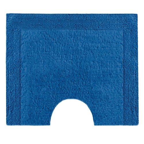 Vossen 1153510469 Charming - Toilettenvorleger mit Ausschnitt, 55 x 50 cm, deep blue