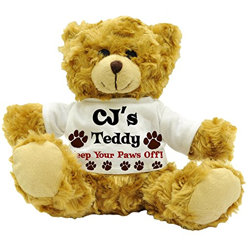 cjs-teddy-keep-your-paws-off-personalised-initials-plush-teddy-bear-22cm-high-approx
