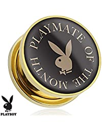 Playboy Adulto Logo impresión chapado en oro tornillo ajuste enchufe