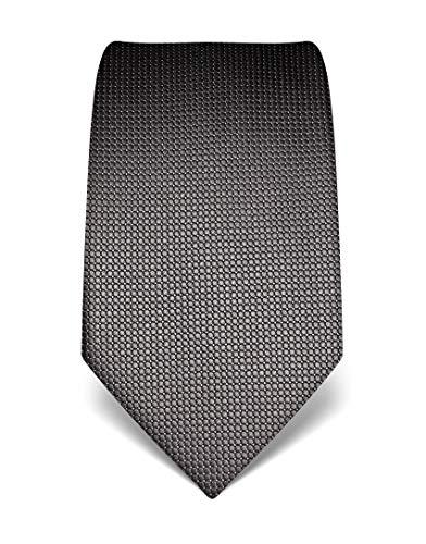 Vincenzo Boretti Herren Krawatte reine Seide gepunktet edel Männer-Design zum Hemd mit Anzug für Business Hochzeit 8 cm schmal/breit grau