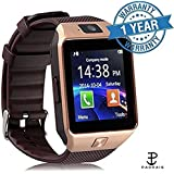 Teleform Smart Watch Compatible Apple Bluetooth Smart Watch All 3G,4G Phone With Camera And Sim Card Support With Apps Like Facebook And WhatsApp Touch Screen QQ, WeChat, Twitter, Time Schedule, Read Message Or News, Sports, Health, Pedometer, Sedentary R
