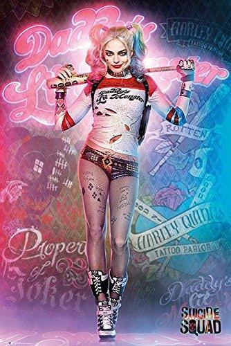 Unbekannt Poster Suicide Squad - Harley Quinn Stand - preiswertes Plakat, XXL Wandposter -