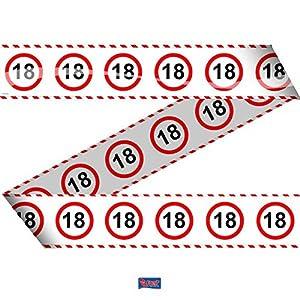 Folat - Cinta de Barrera para Fiesta con señal de Tráfico 18, 15m