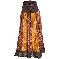 Gonna maxi o abito, colorato e decorato con il patchwork con fascia elastica in vita, ca. 100 cm