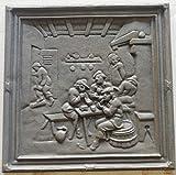 Lunaway Plaque de Cheminée en Fonte Chasse | Dimensions : 38x38 cm - épaisseur 1 cm...