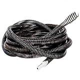 NUZAMAS Bohrbetrieb Drain Cleaner Schneckenfedern Kabel 5 Mt (16ft) 16mm für Haushalt Küche Bad Wc Klempner Sanitär Schlange Rohr Pipeline Kanalreiniger mit Bohrer