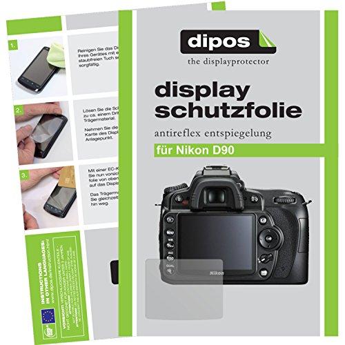 dipos I 6X Schutzfolie matt passend für Nikon D90 Folie Displayschutzfolie