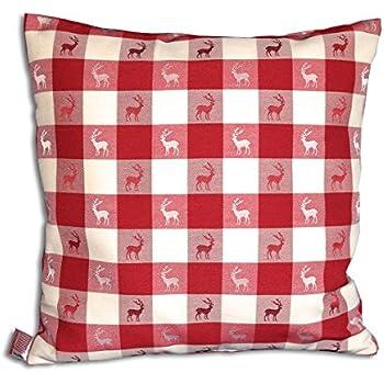 kissenbezug 50x50 cm almh tte hirsch herzen landhaus blumen robust feste qualit t. Black Bedroom Furniture Sets. Home Design Ideas