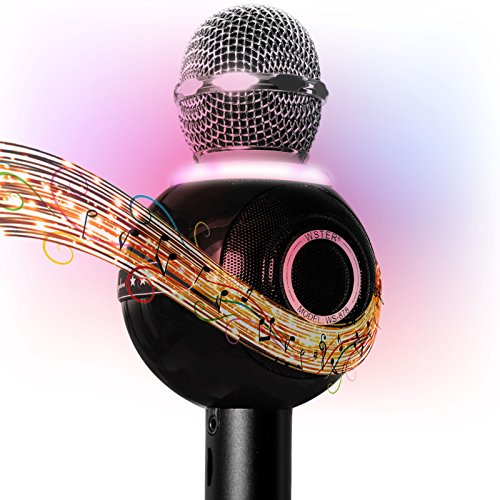 DMG-Bluetooth-Karaoke-Microphone-for-Singing-Wireless-Professional-Handheld-Portable-Speaker-with-Party-Lights