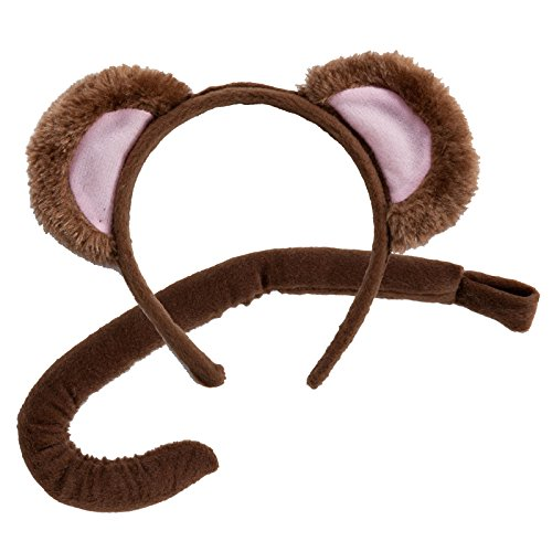 Animal Ears & Tail Set - Monkey (Monkey Tail Kostüme)