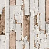 Klebefolie Holzdekor- Möbelfolie Holz Dekor Door grau beige - 45 cm x 200 cm moderne selbstklebende Folie für Haus und Gewerbe - Selbstklebefolie