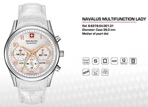 SWISS MILITARY-HANOWA Damen Analog Quarz Uhr mit Leder Armband 06-6278.04.001.01
