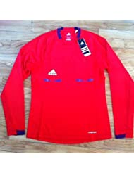 Adidas maillot football Arbitre femme rouge manches longues neuf