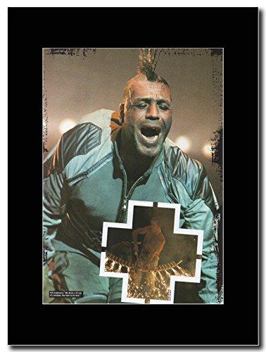 Rammstein-Till Lindemann Stage Shot Magazine Promo su un supporto, colore: nero
