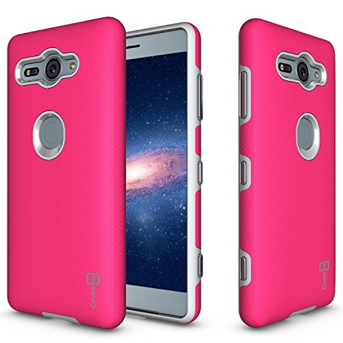 Alle Metro Pcs Handys (Sony Xperia XZ2Compact Fall, coveron [Rugged Serie] Dual Layer Schutzhülle Harte Armor Handy Cover für Sony Xperia XZ2Compact, Hot Pink)