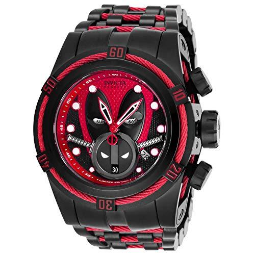 Invicta Marvel Herren-Armbanduhr Armband Edelstahl Lila Schweizer Quarz 27151
