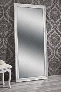 ALAINE Miroir mural style baroque blanc 180 x 80 cm
