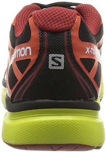 Salomon X-Tour 2, Scarpe sportive, Uomo Black/Tomato Red/Gecko Green
