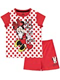Disney Mädchen Minnie Maus Schlafanzug Rot 104