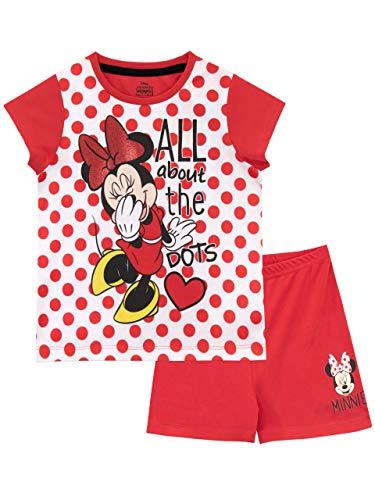 Disney Mädchen Minnie Maus Schlafanzug Rot 104 -
