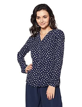 Tommy Hilfiger Women's Polka Dot Regular Fit Top