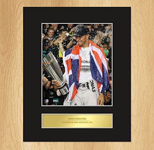 My Prints Lewis Hamilton Signed Mounted Photo Display Mercedes Formula One CHAMPION 2014