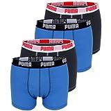 4er Pack Puma Basic Shortboxer, kurzer modischer Schnitt + sehr schneller Versand durch Amazon (L, Marine)