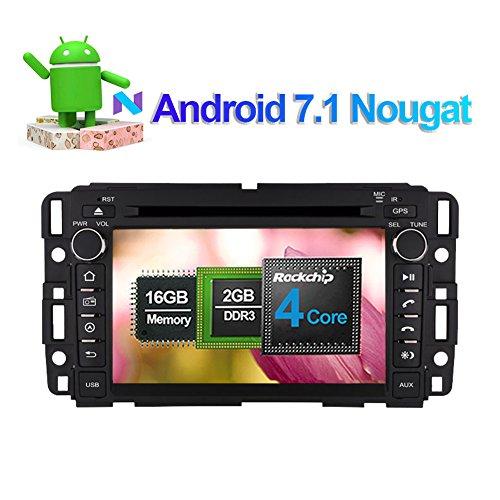 17,8cm Android 7.1System Auto Stereo 2DIN CD DVD Player mit Bluetooth GPS Navigation Touchscreen für GMC Yukon Tahoe Acadia 2007-2012Unterstützung Wifi 3G USB SD Lenkrad Control 1080P