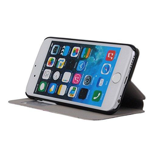 MOONCASE Apple iPhone 6S Case Slim Window View Design Coque en Cuir Housse de Protection Étui à rabat Case pour Apple iPhone 6 / 6S (4.7 inch) XB08 XB07 #1223
