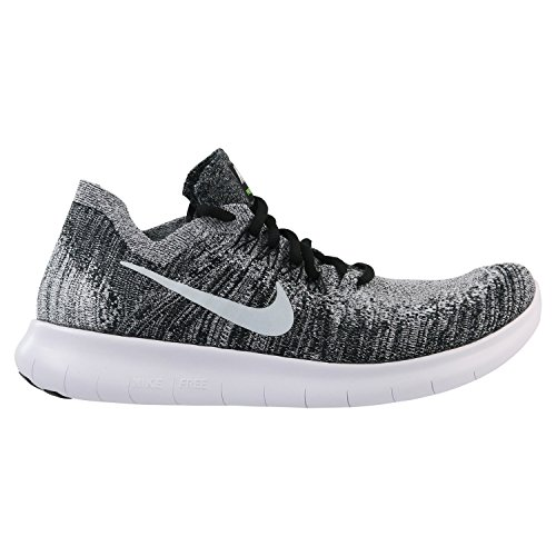Nike 2 Run Männer Free (Nike Herren Laufschuh Free Run Flyknit 2018, Schwarz (Black/White-Volt 003), 47.5 EU)