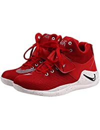 Butchi Classic Red Mesd Sport Shoes For Men