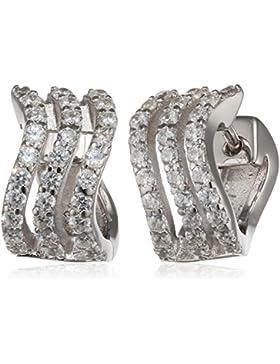 Esprit Essential Damen-Ohrstecker ES-GLEAMING WAVE 925 Silber rhodiniert Zirkonia transparent - ESCO91952A000