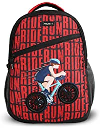 Priority Aeon 40 LTR Black & Red Casual School | College Backpack Bag