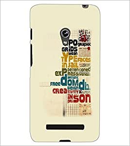 PrintDhaba Typography D-5557 Back Case Cover for ASUS ZENFONE 5 A501CG (Multi-Coloured)