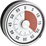 Magnetic Mechanical Kitchen Timer–Stainless Steel––diameter 8x 3.2cm