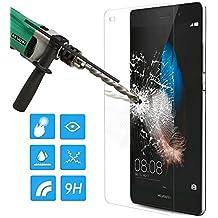 Protector de pantalla de vidrio templado MMOBIEL para Huawei Ascend P8 5.2 Inch alta definición, 99% de transparencia,delgado(0.2 mm), dureza balística 9H, cortado con láser y libre de burbujas