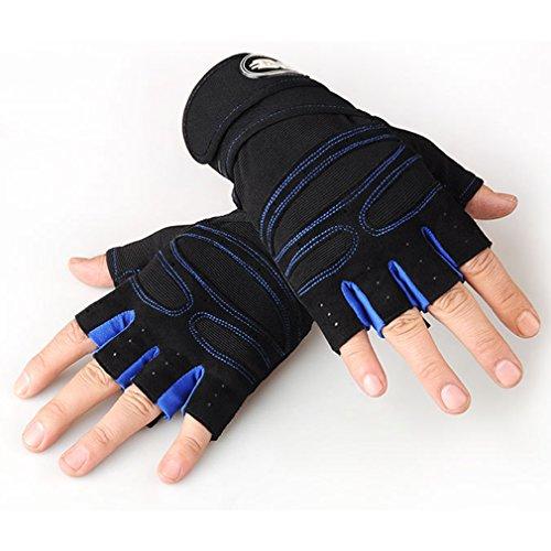 LnLyin Herren Sport Fitness Handschuhe Training Taktische Handschuhe Halb Knie Handschuh Halb Bezieht Outdoor Anti Rutsch Reithandschuhe