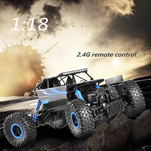 RC Auto kaufen Crawler Bild 3: H&B HB HB-P1802 Ferngesteuertes 4WD Rock Crawler RC Car Geländewagen Auto 1:18 Fernbedienung Monster Truck/Off Road Fahrzeug (Blau)*