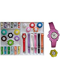 JIYA ENTERPRISE Analogue Multicolour Dial 18 Changeable Belt for Girl's Watch