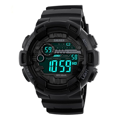 Addic Multifunction Black Dial Digital Sports Watch For Men's & Boys.
