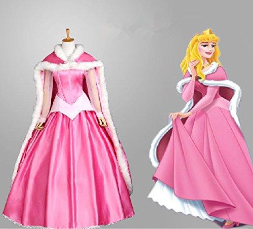 Sunkee Grimm's Fairy Tales Sleeping Beauty Kostüm Prinzessin Aurora Abendkleid Cosplay (Children: XL, (Kostüme Sleeping Aurora Beauty)
